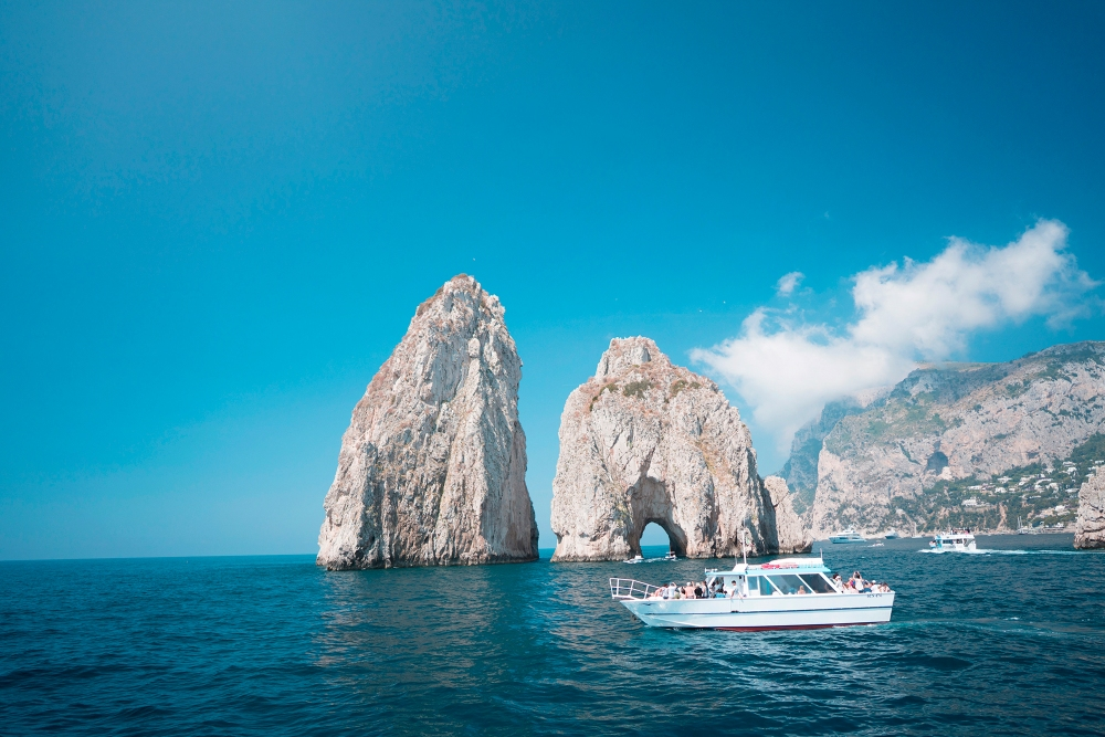 Cruising to Capri from Positano