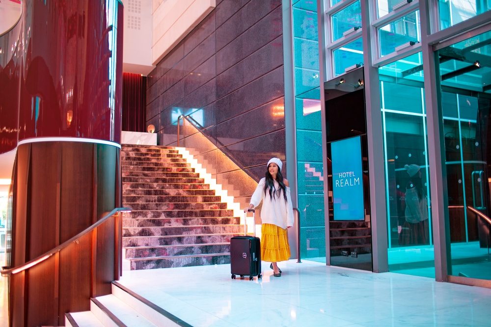 Hotel Realm Lobby American Tourister Luggage