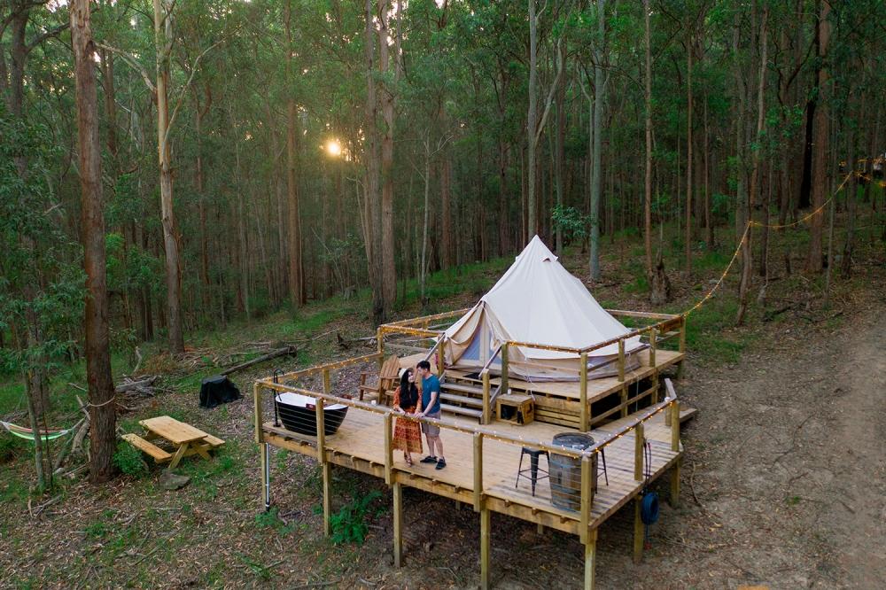 Glamping retreat in2thewild Kookaburra Ridge